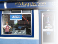 The shop front of Wm Allan Family Butcher